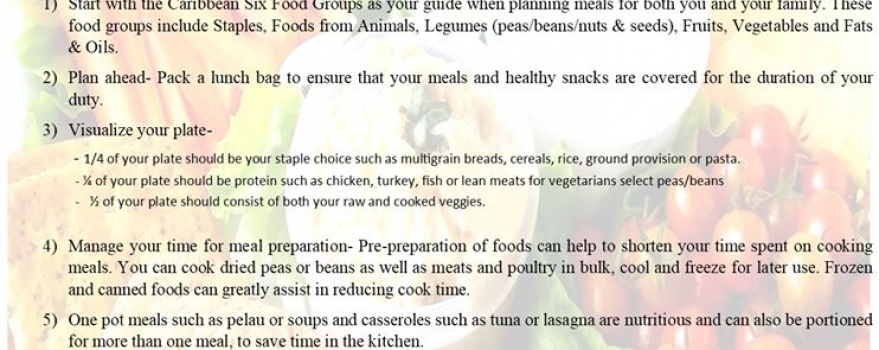 Healthy Eating Tips of Healthcare Workers