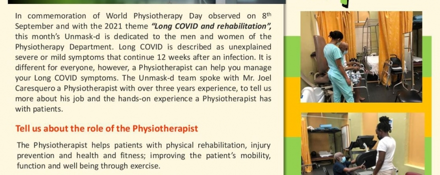 NWRHA's UNmask-d the Physiotherapy Department