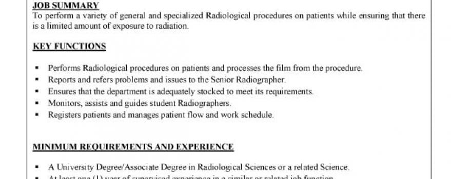 Radiographer I