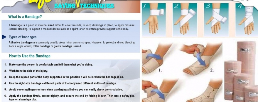 Do It Yourself (DIY) Life Saving Techniques Series – Bandages